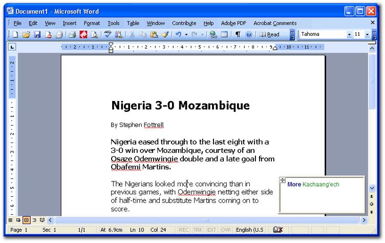 Kalenjin - English Dictionary | Samburtaab Ng'aleekaab